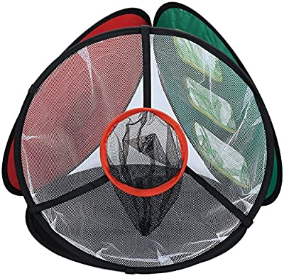 Paragon Golf Chipping Game Collapsible Net / 4 in 1 Chipper Practice with Bulls-Eye, Rough to Green, See-Thru Chip Shot, and Lob & Pitch Practice Games