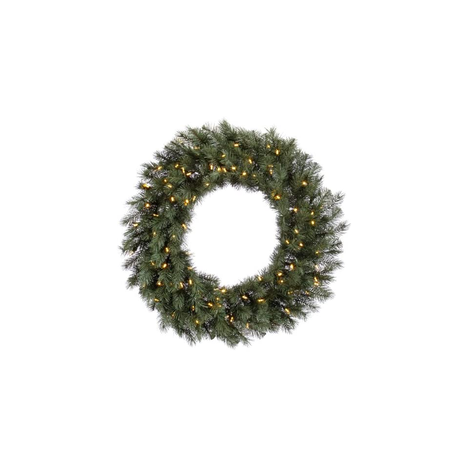 48 Blue Albany Spruce Christmas Wreath w/ 300T 180 Led WmWht Lights.