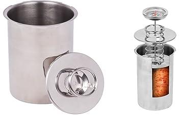 Extragroß 42cm Rund Silber Serviertablett Edelstahl Tief Tablett Gehämmert