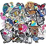 Libiline Kid Embroidered Flamingo Owl Panda Fish Dog Cat Bird Bear Butterfly Bee Patch Sew On/Iron On Patch Applique Clothes Dress Plant Hat Jeans Sewing Flowers Applique DIY Accessory (Animals) (Color: Animals)