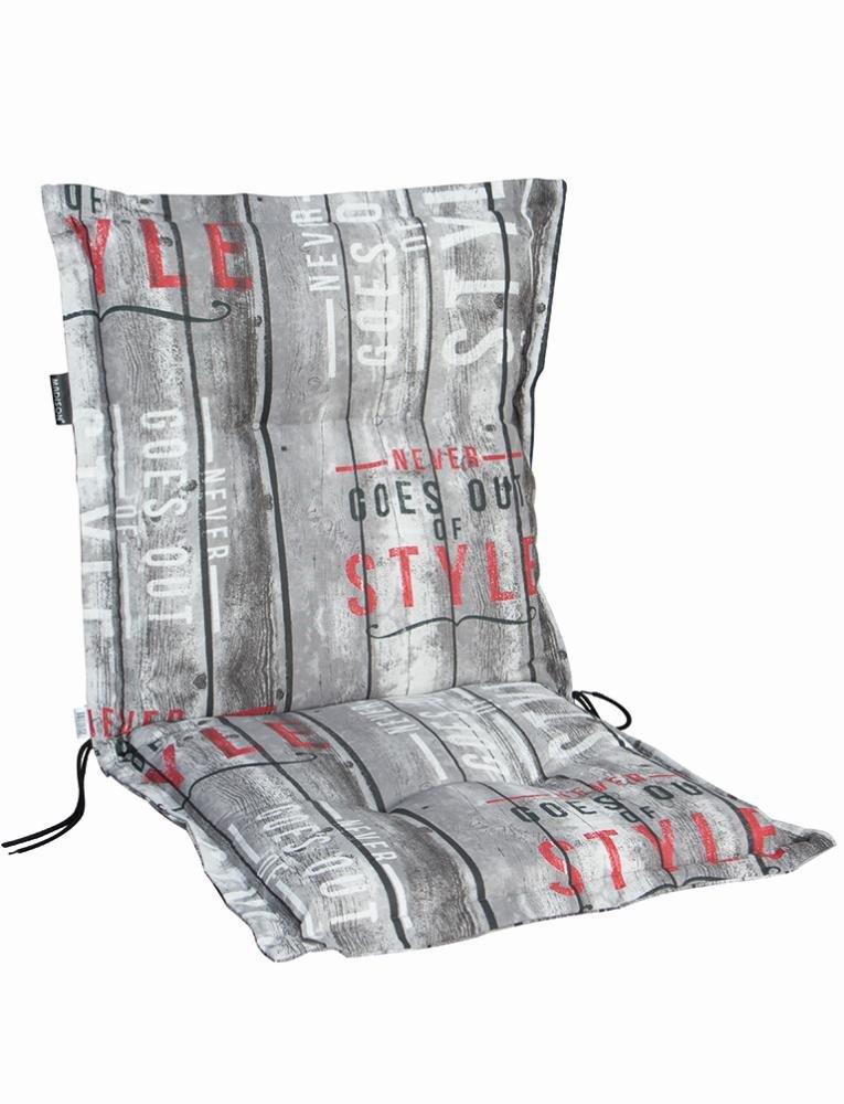 4 Stück MADISON Dessin Annabeth Sitzpolster für Stapelsessel, Stuhlauflage niedrig, Niedriglehner 75% Baumwolle, 25% Polyester, 100 x 50 x 8 cm
