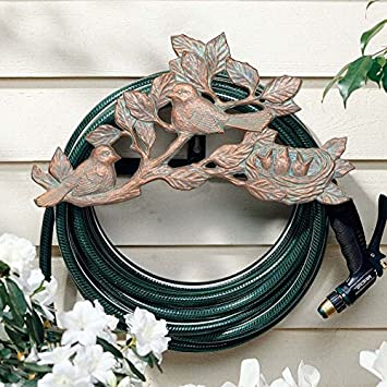Recycled aluminum garden hose holder