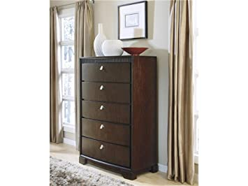 Marxmir Medium Brown Five Drawer Chest
