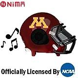 Nima Athletics NCAA Football Minnesota Gophers Wireless Bluetooth Speaker. Officially Licensed Portable Helmet Speaker by NCAA College Football - Small