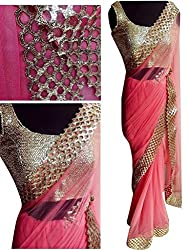 Gokul Vastra Net Saree (Pack of 2) (P-KT-3003_2_Pink)