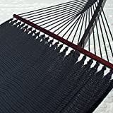 Double Caribbean Hammock - 48 inch - soft-spun polyester - black
