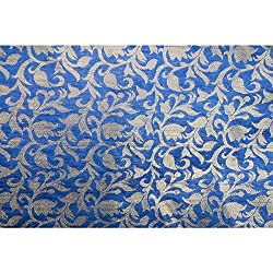 Aagaman Fashions Brocade Fabrics (TSFB002C_Blue)