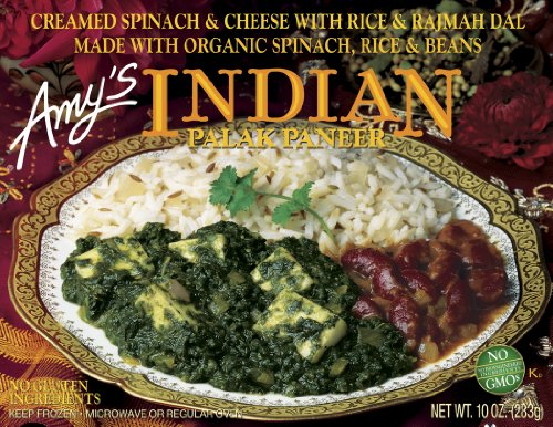 Amy'S Indian Palak Paneer, Gluten-Free, Organic, 10-Ounce Boxes (Pack Of 12)