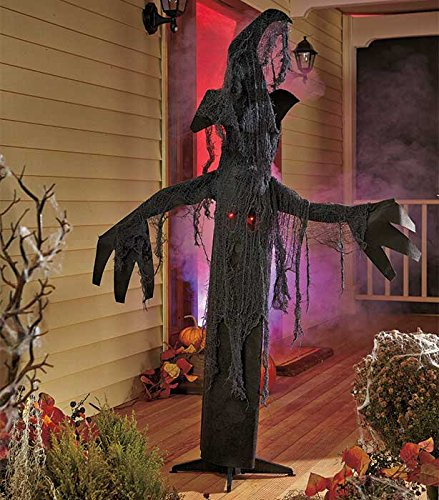 5 Ft Tall Animated Spooky Tree Halloween Decor Sound Activated Evil Laugh & Wailing Sounds Branches and Trunk Move