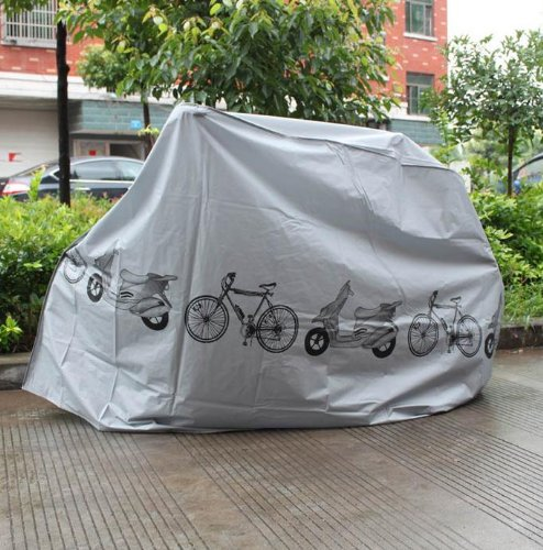 Crazy Shopping Grey Bicycle Motorcycle Rain Cover