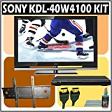 Sony Bravia W-Series KDL-40W4100 40-inch 1080P LCD HDTV + Sony DVD Player w/ Wall Mount Accessory Ki