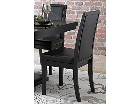 Cicero Side Chair by Homelegance in Black