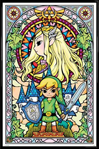 The Legend Of Zelda Poster Stampa e Cornice (Plastica) - Link (91 x 61cm)