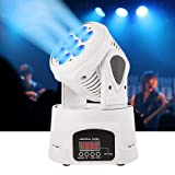 BETOPPER Moving Head Light, 7x8W RGBW Moving Heads with DMX512 Signal Out/In Port DJ Lighting DMX-512 9/14 Channels Stage Lighting for KTV Club Bar Party Disco DJ Show Bands(White) Mothers' Day Show (Color: LM70-N-fba, Tamaño: Medium)