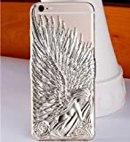 Luxury Bling 3D Angle Wings Hard Smartphone Cover for iPhone5 Gold