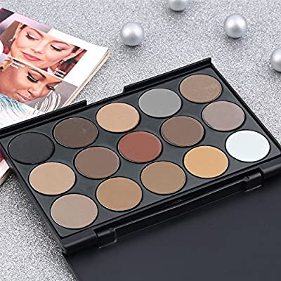 Eyeshadow Palette - Luismia 15 Colors Waterproof Smoky Natrual Naked Make up Eye shadow Kit Eyebrow Mineral Powder kit