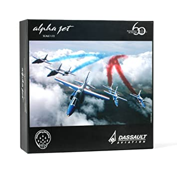 Maquette Alpha jet Patrouille de France 60 ans Modèle au 1/72ème