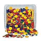ETA hand2mind, Plastic Pattern Blocks Classroom Basics Kit, (42830)