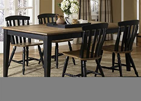 Dining Table with 4 Slat Back Chairs