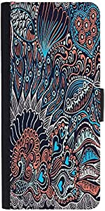 Snoogg Abstract Seamless Texture With Fish Designer Protective Back Case Cove...