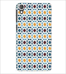 HTC DESIRE 820 CIRCLE PATTERN Designer Back Cover Case By PRINTSWAG