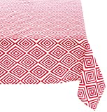 "Mahogany P109T120 Rectangle ""Moore"" Printed Tablecloth, 60 by 120-Inch, Fuchsia"