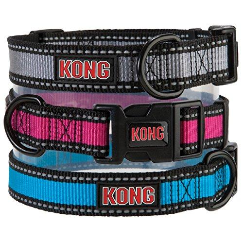 Kong Reflective Dog Collar Small Blue