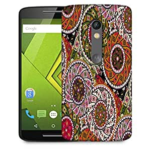 Snoogg Multicolor Pattern Design Designer Protective Phone Back Case Cover For Motorola Moto X Play