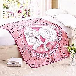Fatacy Anime Sailor Moon Pink CORAL FLEECE Throw Blanket 50\