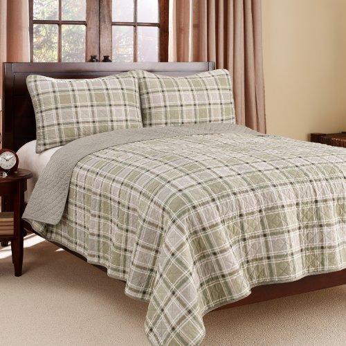 Eddie Bauer Westmont Plaid 3-Piece Cotton Reversible Quilt Set, King front-996282