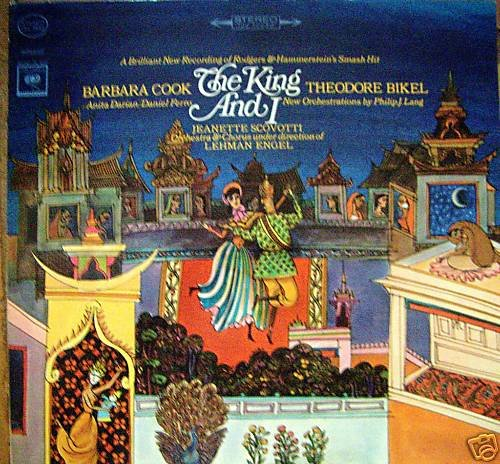 The King and I Barbara Cook & Theodore Bikel Cast Studio Album Lp