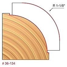 "1-1/8"" Radius Beading Bit (Quadra-Cut)"