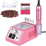 Professional Electric Nail Drill 30,000 RPM Efile Buffer Manicure Grinder Tools for Acrylic Nails with Nail Drill Bits Set and Sanding Bands (Pink) (Color: Drill-Machine Pink, Tamaño: 30000 RPM)