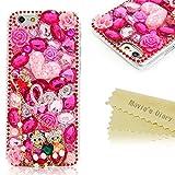 Mavis's Diary iPhone6(4.7インチ)用 ハードケース 可愛い きらきら 恋をする小熊 ラインストーンデコ電 ピンク ポリカーボネート樹脂