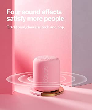 Bluetooth Speaker,Portable Wireless Bluetooth Speakers with Loud HD Sound and Rich Bass,IPX5 Waterproof,Handsfree Call,TF Card Support,Built-in-Mic,for Phones,Tablets,Computer and More (Pink) (Color: pink)