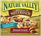 Nature Valley Gluten Free Roasted Nut Crunch Granola Bars, Almond Crunch, 1.2-Ounce, 6-Count Boxes (Pack of 6)