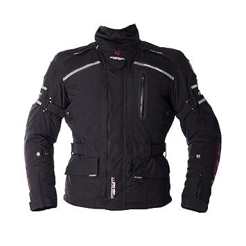 Nouveau loup titane 3/4 2100 Textile moto Jacket Black