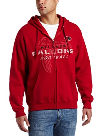 NFL Mens Atlanta Falcons Touchback IV Adult Long Sleeve Fullzip Hooded Fleece by NFL