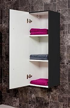 armoire haute 100 100 cm noir aspect affin cuisine maison maison m73. Black Bedroom Furniture Sets. Home Design Ideas
