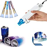 5Pcs Epoxy Glitter Tumbler kit, Bubble Buster Tool for Making Epoxy Glitter Tumblers, Specially Made Heat Gun for DIY Acrylic Resin Cups to Remove Air Bubbles, 3Pcs Magic Brushes for Vinyl Crafts