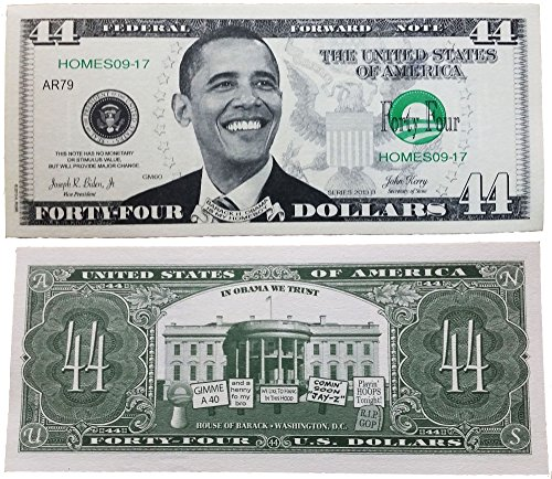 SET OF 25 BILLS-Barack Obama 44 Dollar Novelty Bill Money