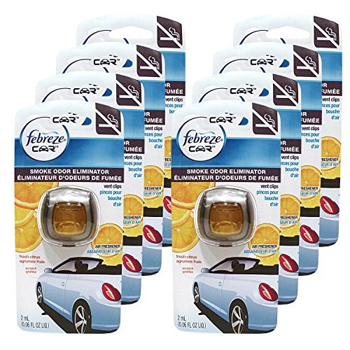 Febreze Car Vent Clips Air Freshener Odor Eliminator New: Febreze Car Vent Clips Smoke Odor Eliminator, Fresh Citrus