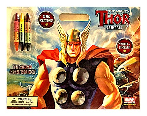 Dalmation Press Presents the Mighty Thor Artist Pad with Crayons and Stickers