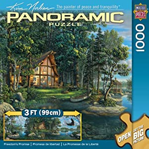.com: Freedom's Promise 1000 pc Panoramic Norlien Pano: Toys & Games