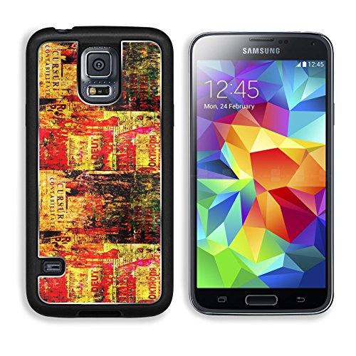 MSD Premium Samsung Galaxy S5 Aluminum Backplate Bumper Snap Case Grunge abstract background with old torn posters IMAGE 23145708 (Digital Juice Fonts compare prices)