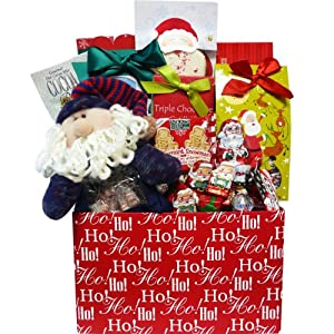 Art of Appreciation Gift Baskets Santa's Sweets Cookie and Candy Christmas Care Package Gift Box - Holiday Gift Basket