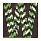 W by James Brown (Alphabet Lino Print)