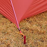 Aodoor-10-PCS-Sandheringe-Zeltheringe-fr-CampingMountain-Warehouse-Gerippte-Zeltpflcke-Peg-Nagel-mit-Seil-Camping-Ausrstung-Strand-18cm-700I-Aluminiumlegierung-Zelt-Rot