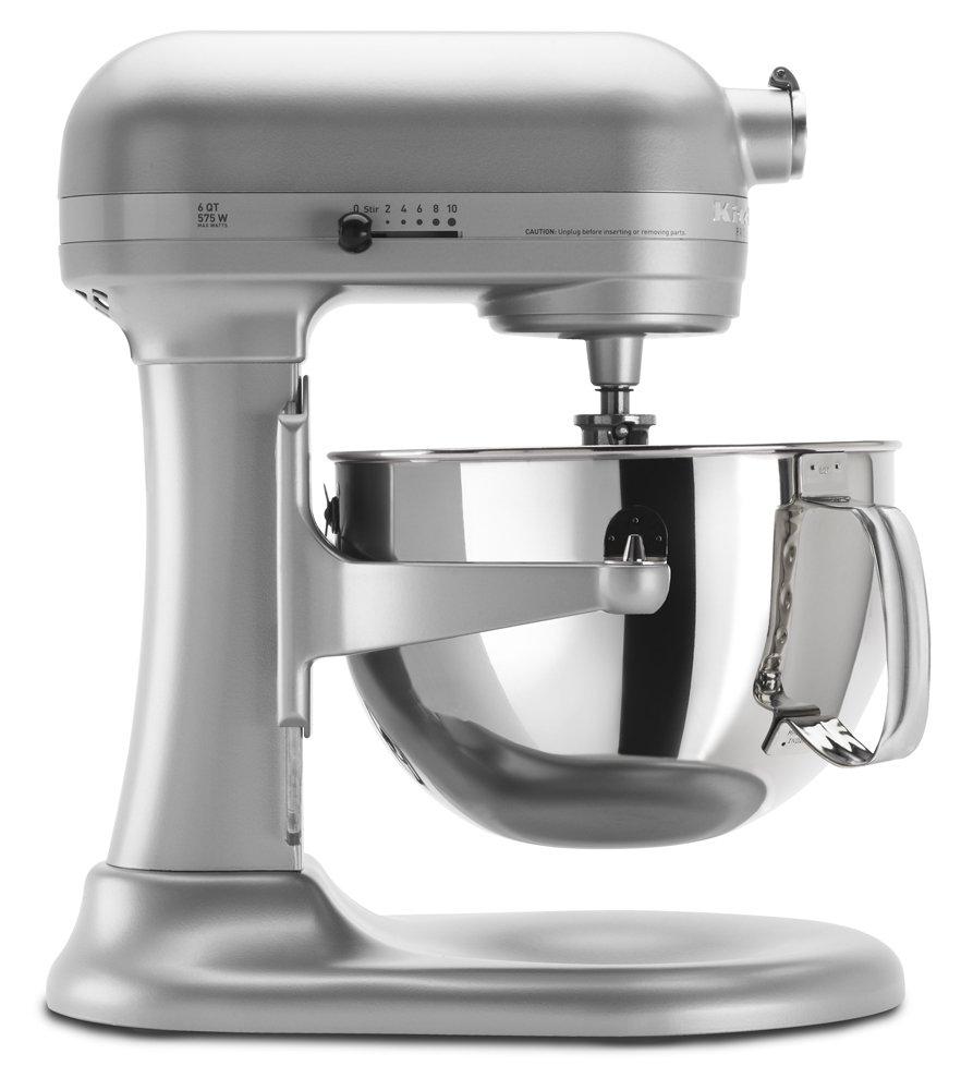 KitchenAid KP26M1XNP Professional 600 Series 6-Quart Stand Mixer – Nickel Pearl