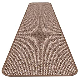 Skid-resistant Carpet Runner - Praline Brown - 12 Ft. X 27 In. - Many Other Sizes to Choose From